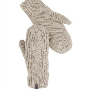 THE NORTH FACE CABLE KNIT MITT - Light Grey Color